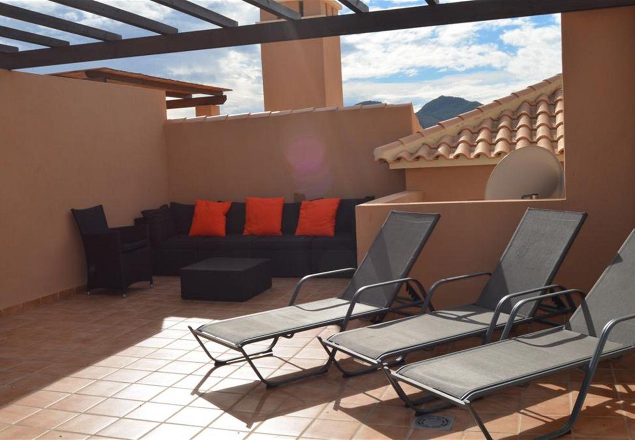 Gran terraza en la azotea bien amueblada para descansar - Resort Choice