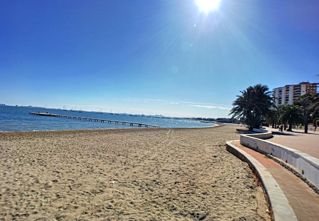 Preciosa playa del Mar Menor en Santiago de la Ribera